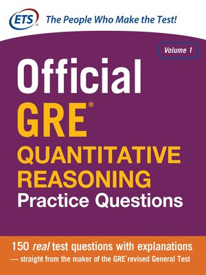 cover image of Official GRE Quantitative Reasoning Practice Questions