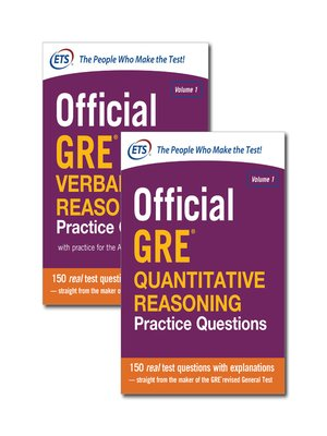 cover image of Official GRE Value Combo (ebook bundle)