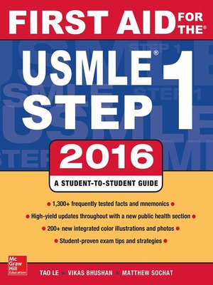 cover image of First Aid for the USMLE Step 1 2016