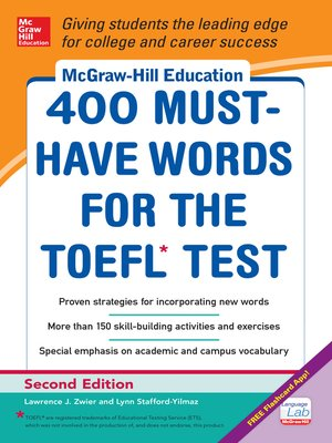 cover image of McGraw-Hill Education 400 Must-Have Words for the TOEFL