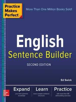 cover image of Practice Makes Perfect English Sentence Builder