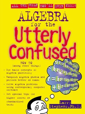 cover image of Algebra for the Utterly Confused