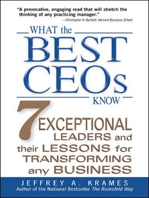 cover image of What the Best CEOs Know