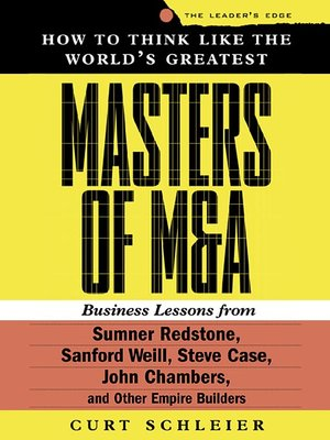 cover image of How to Think Like the World's Greatest Masters of M & A