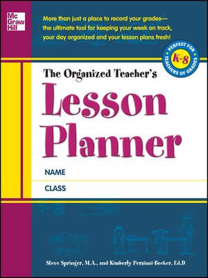 cover image of The Organized Teacher's Lesson Planner