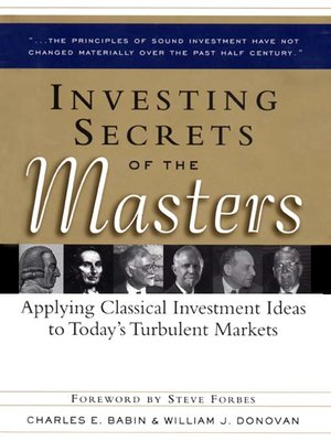 cover image of Investing Secrets of the Masters