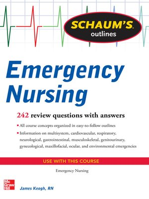 cover image of Schaum's Outline of Emergency Nursing