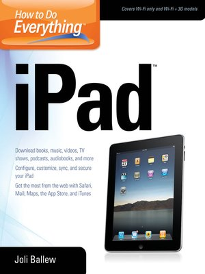 cover image of How to Do Everything iPad