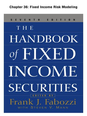 cover image of Fixed Income Risk Modeling