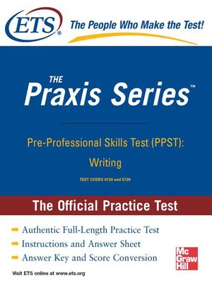 cover image of Pre-Professional Skills Test (PPST)