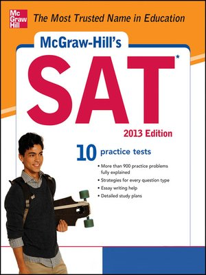 cover image of McGraw-Hill's SAT with CD-ROM