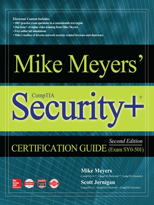 cover image of Mike Meyers' CompTIA Security+ Certification Guide (Exam SY0-501)