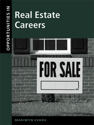 cover image of Opportunities in Real Estate Careers
