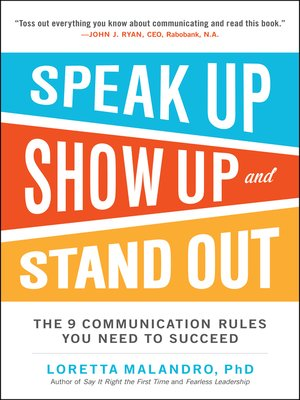 cover image of Speak Up, Show Up, and Stand Out
