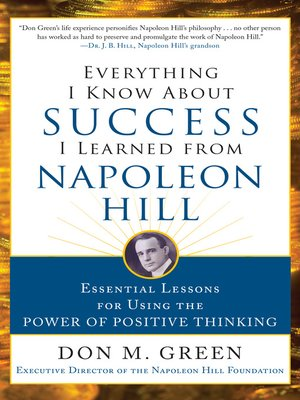 cover image of Everything I Know About Success I Learned from Napoleon Hill