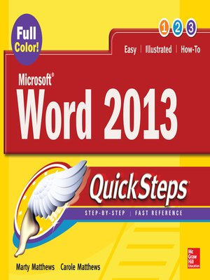cover image of Microsoft® Word 2013 QuickSteps
