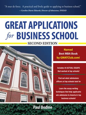 cover image of Great Applications for Business School