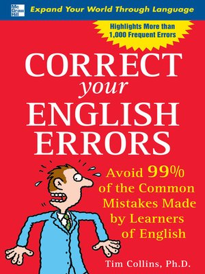 cover image of Correct Your English Errors