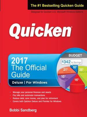 cover image of Quicken 2017 the Official Guide