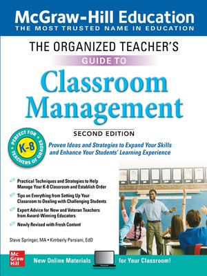 cover image of The Organized Teacher's Guide to Classroom Management, Grades K-8