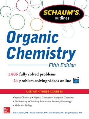cover image of Schaum's Outline of Organic Chemistry