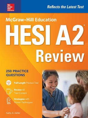cover image of McGraw-Hill Education HESI A2 Review
