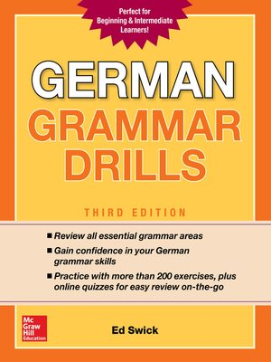 cover image of German Grammar Drills