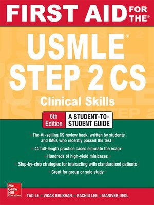 cover image of First Aid for the USMLE Step 2 CS
