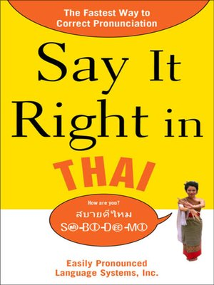 cover image of Say It Right in Thai