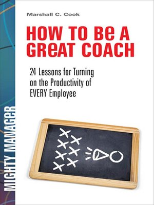 cover image of How to Be a Great Coach