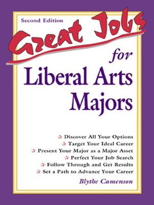 cover image of Great Jobs for Liberal Arts Majors
