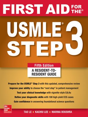 cover image of First Aid for the USMLE Step 3