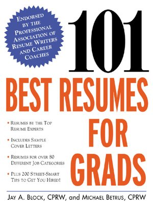 cover image of 101 Best Resumes for Grads