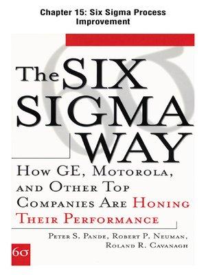 cover image of Six Sigma Process Improvement