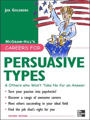 cover image of Careers for Persuasive Types & Others Who Won't Take No for an Answer