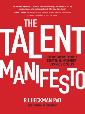 cover image of The Talent Manifesto