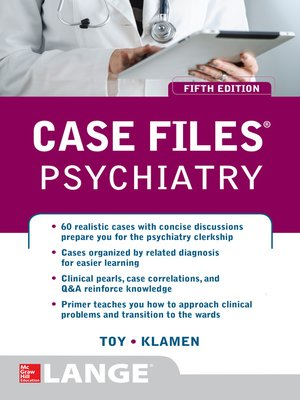 cover image of Case Files Psychiatry