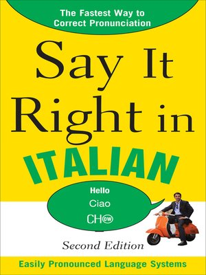 cover image of Say It Right in Italian