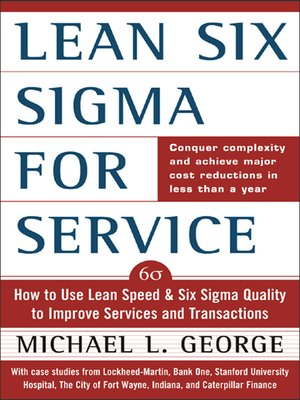 cover image of Lean Six Sigma for Service