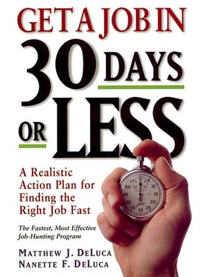 cover image of Get a Job in 30 Days or Less
