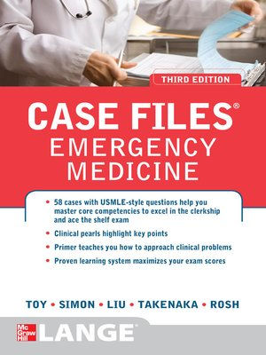 Cover Image Of Case Files Emergency Medicine