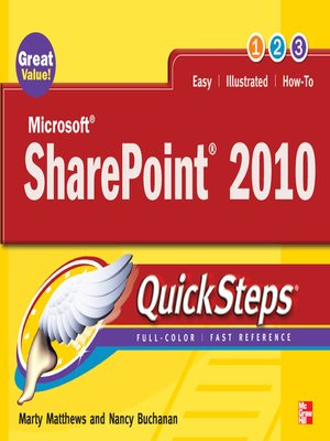 cover image of Microsoft® SharePoint® 2010 QuickSteps