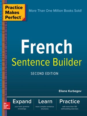 cover image of Practice Makes Perfect French Sentence Builder