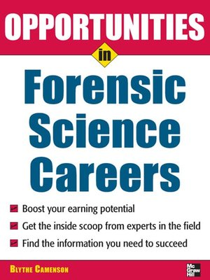 cover image of Opportunities in Forensic Science