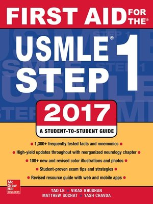 cover image of First Aid for the USMLE Step 1 2017
