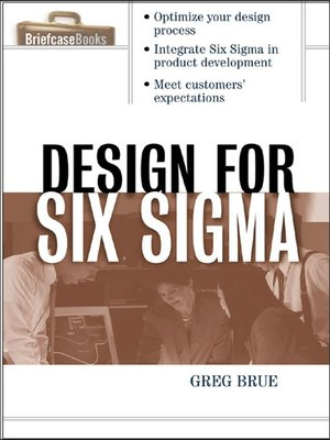 cover image of Design for Six Sigma