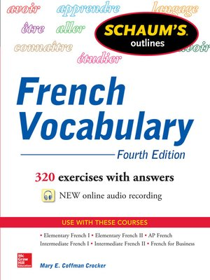 cover image of Schaum's Outline of French Vocabulary