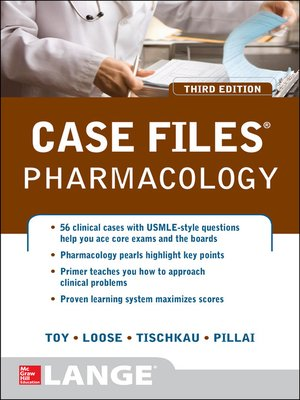 cover image of Case Files Pharmacology