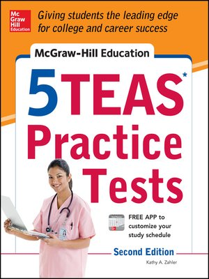 cover image of McGraw-Hill Education 5 TEAS Practice Tests