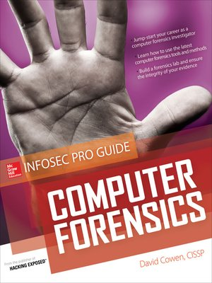 cover image of Computer Forensics InfoSec Pro Guide
